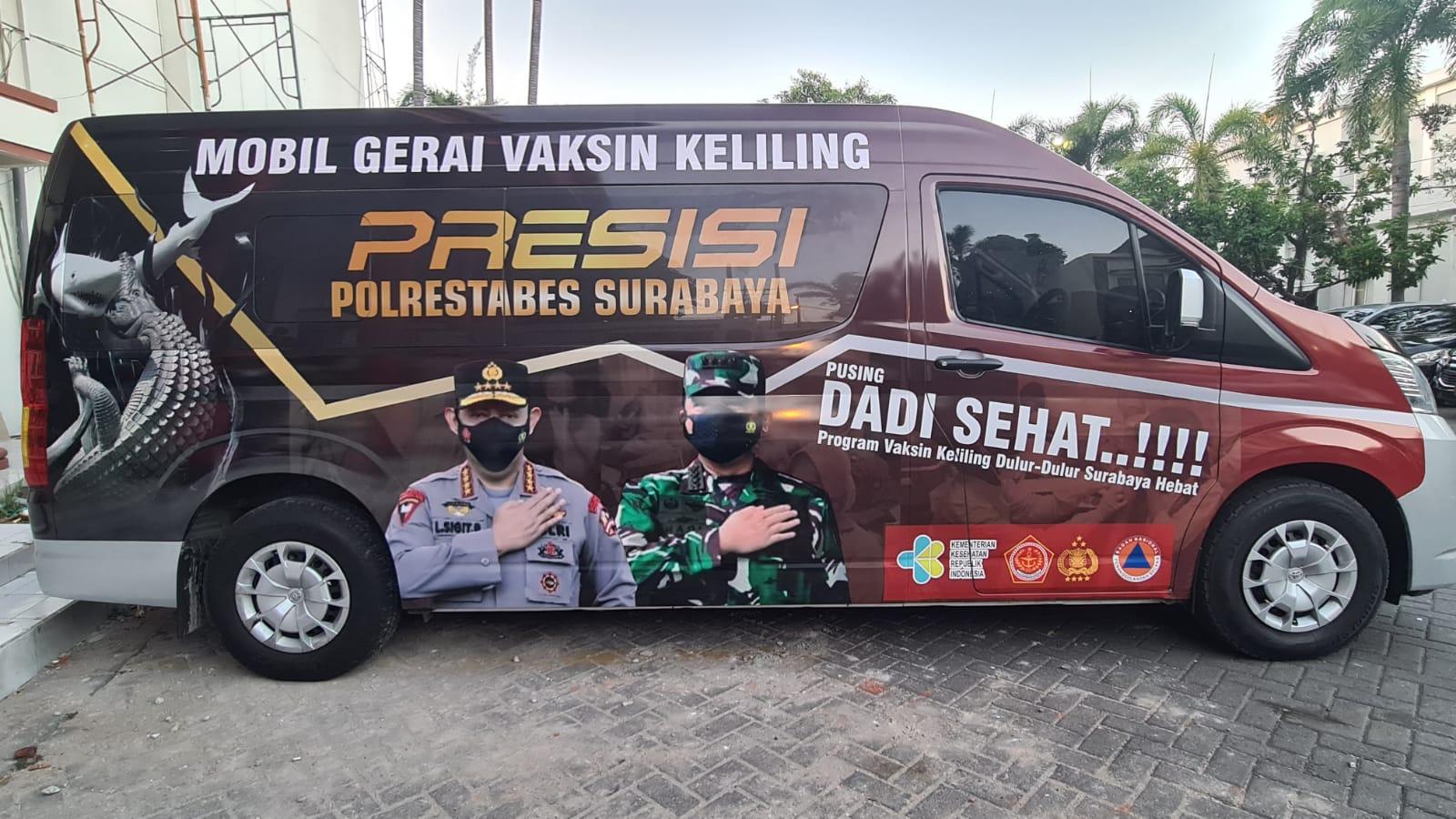 Polrestabes Surabaya Luncurkan Mobil Vaksin Presisi Keliling | Memo Surabaya