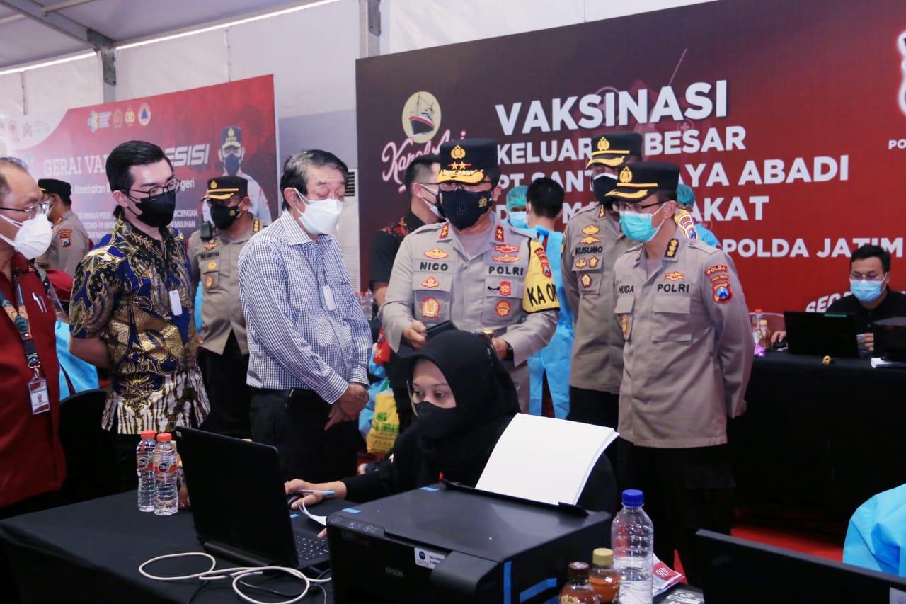 Kapolda Jatim Cek Vaksinasi Berbasis Komunitas Pekerja | Memo Surabaya