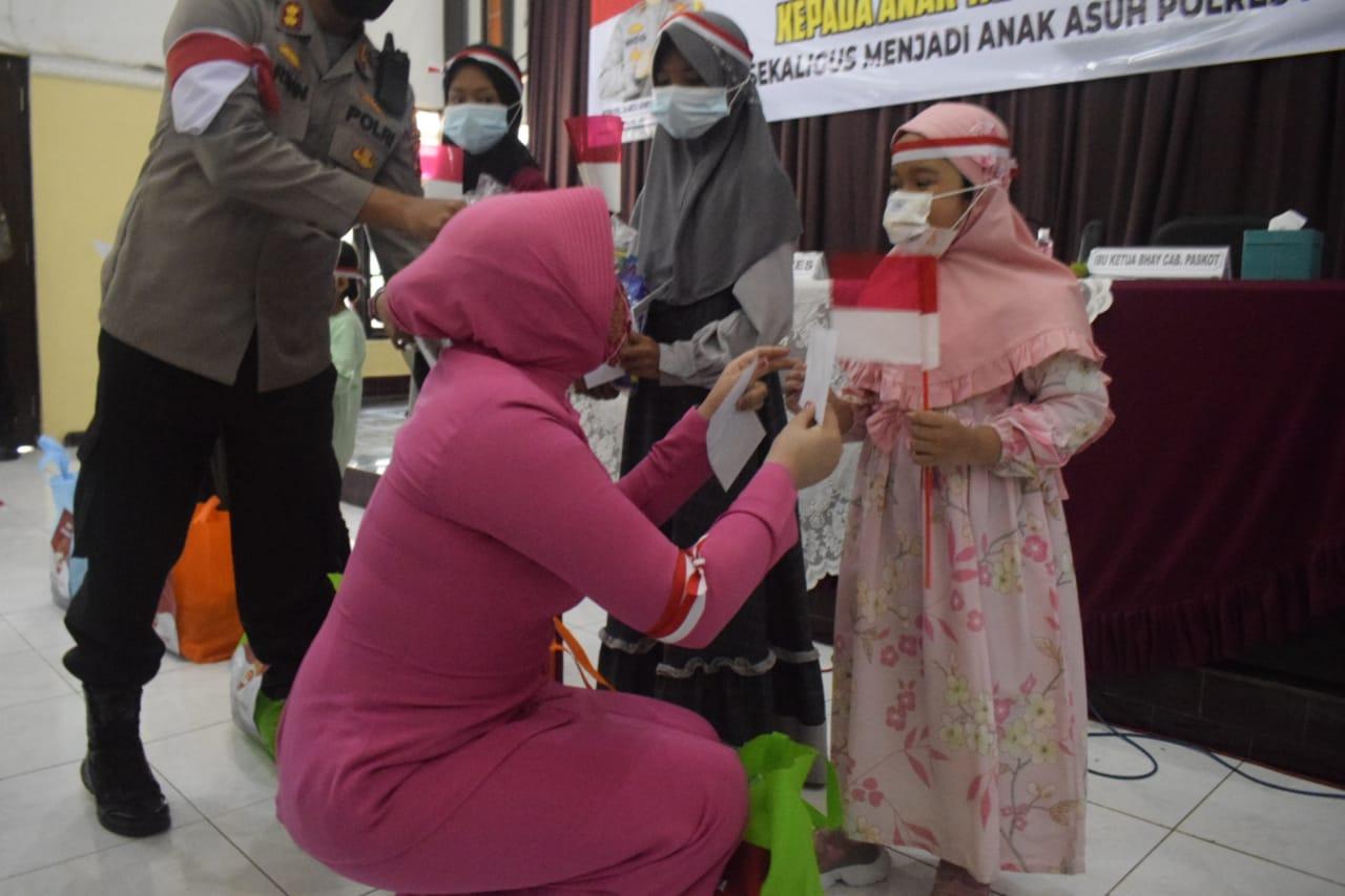 Sebanyak 130 Anak Yatim Piatu Korban Covid- 19 Jadi Anak Asuh Polres | Memo Surabaya