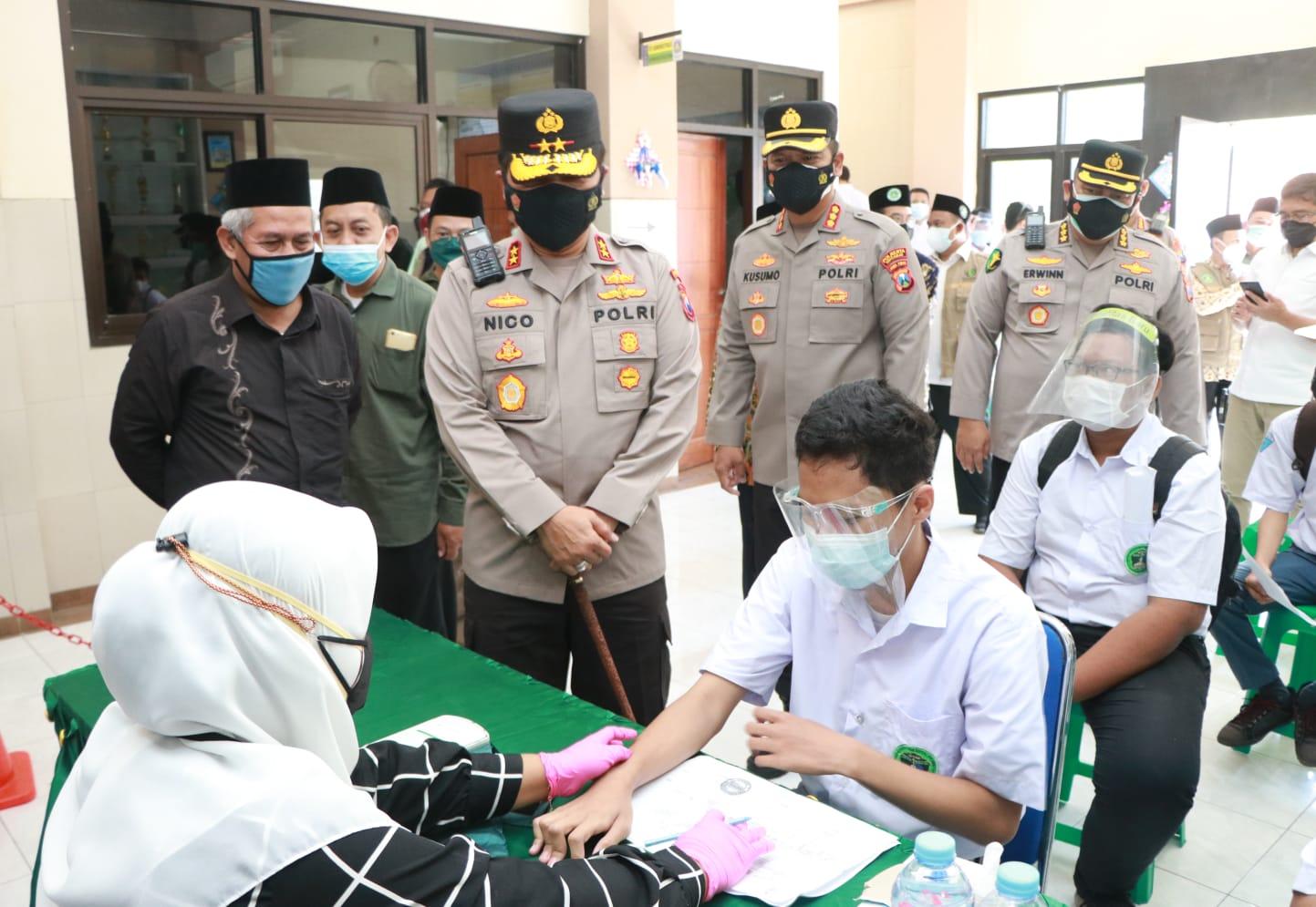 PoldaJatim Gandeng PWNU Sukseskan Vaksinasi Percepatan Herd Immunity | Memo Surabaya