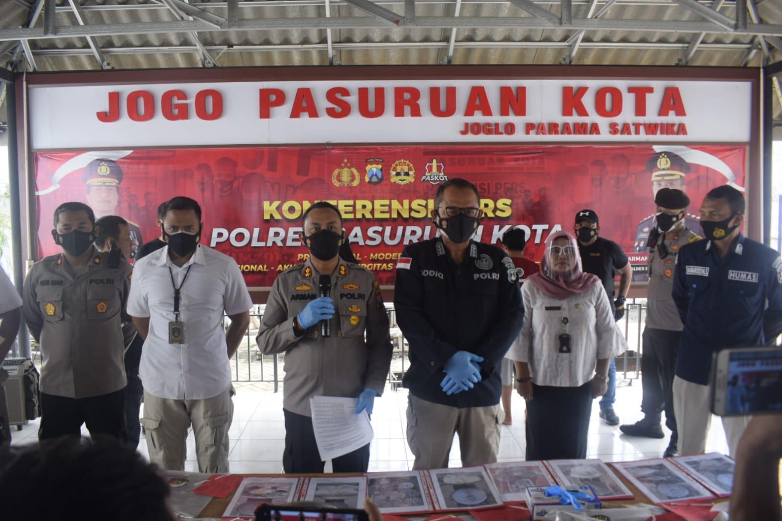 Polres PasuruanKota Tetapkan 4 Tersangka Peristiwa Ledakan BomBondet | Memo Surabaya