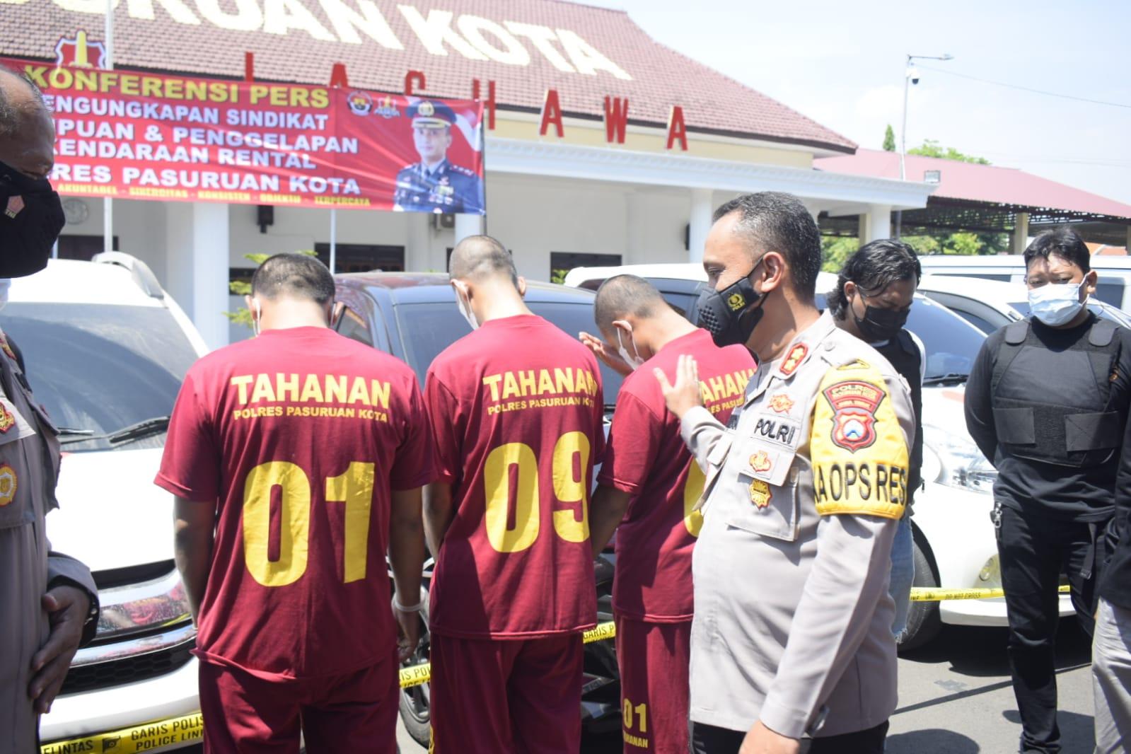 Pelaku Sindikat Penipuan dan Pengelapan Kendaraan Rental di Bekuk | Memo Surabaya